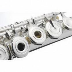Posrebrena Flauta sa otvorenim klapnama