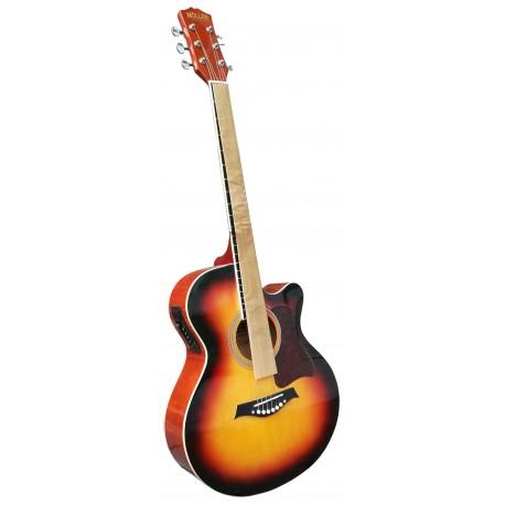 Akusticna ozvucena gitara sunburst boja